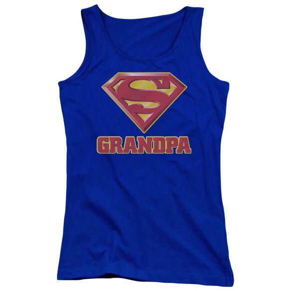 Superman Super Grandpa Juniors Tank Top Royal