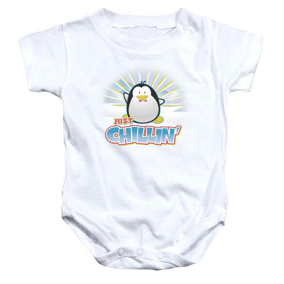 Just Chillin Infant Snapsuit White Md