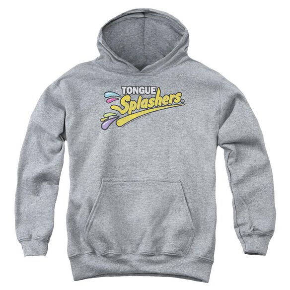Dubble Bubble Tongue Splashers Logo-youth Pull-over Hoodie - Heather