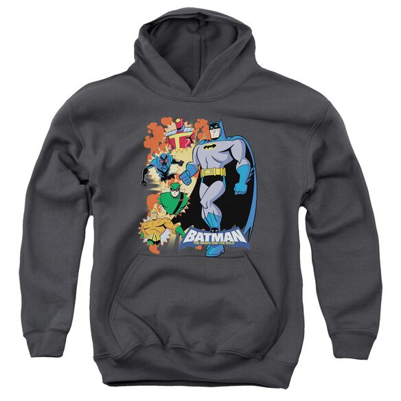 Batman Bb Batman & Friends Youth Pull Over Hoodie