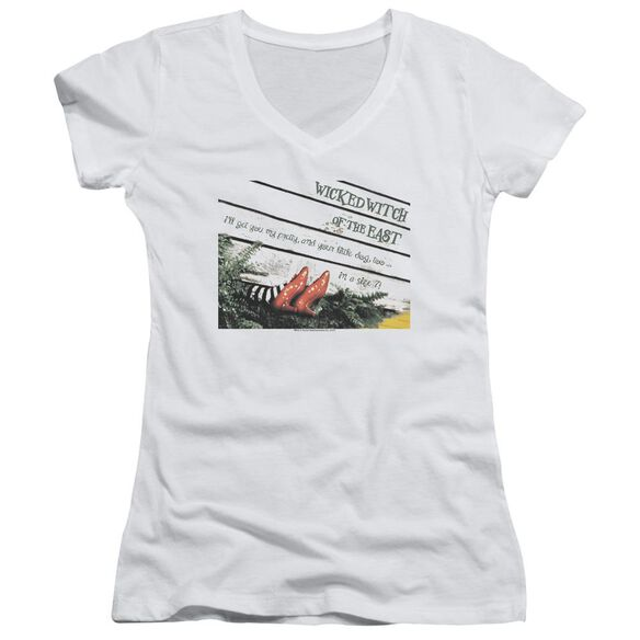 Wizard Of Oz Size 7 Junior V Neck T-Shirt