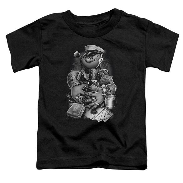 Popeye Mine All Mine Short Sleeve Toddler Tee Black Md T-Shirt