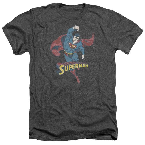 Dco Desaturated Superman Adult Heather