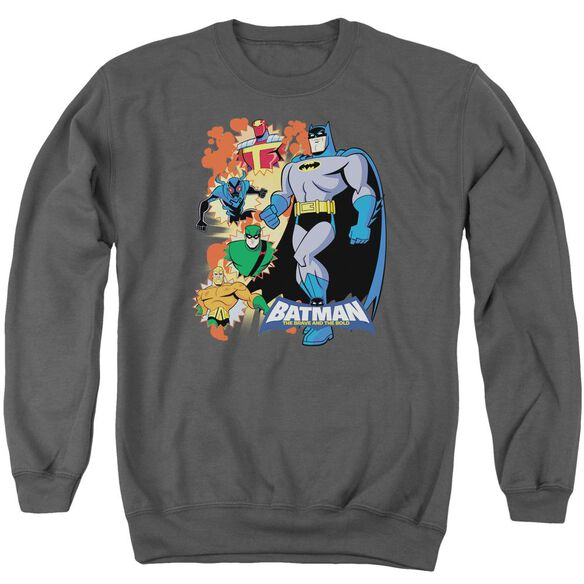 Batman Bb Batman &Amp; Friends Adult Crewneck Sweatshirt
