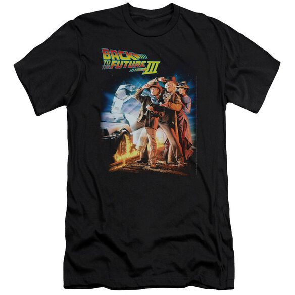 Back To The Future Iii Poster Premuim Canvas Adult Slim Fit