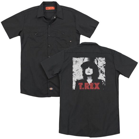 T Rex The Slider(Back Print) Adult Work Shirt