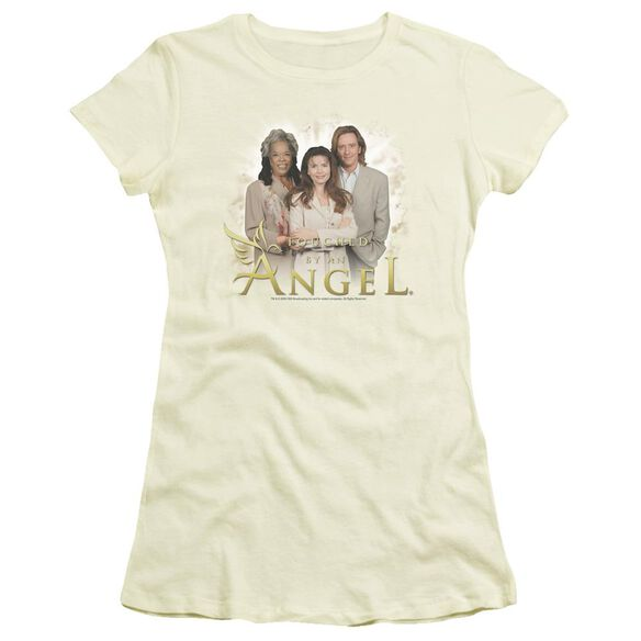 Touched By An Angel An Angel Short Sleeve Junior Sheer T-Shirt