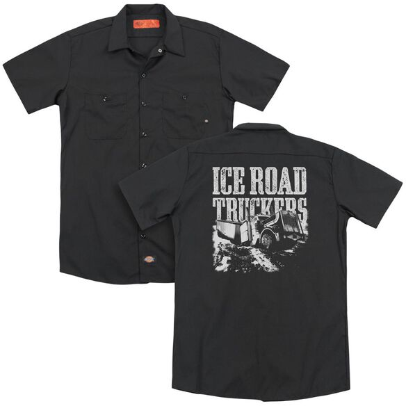 Ice Road Truckers Break The Ice (Back Print) Adult Work Shirt