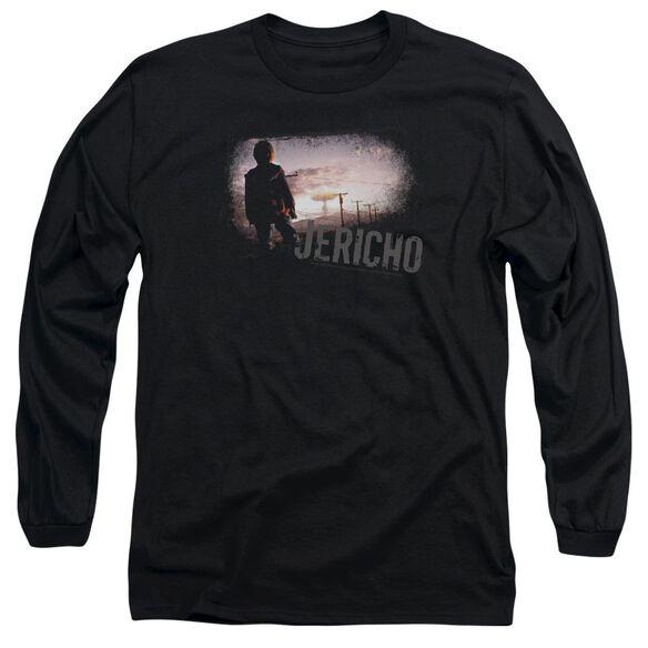 JERICHO MUSHROOM CLOUD - L/S ADULT 18/1 - BLACK T-Shirt