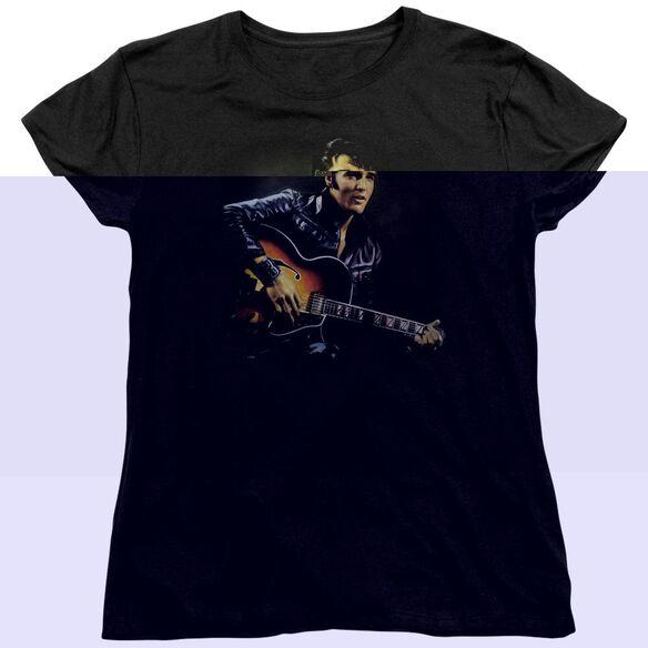 ELVIS PRESLEY 1968 - S/S WOMENS TEE - BLACK T-Shirt