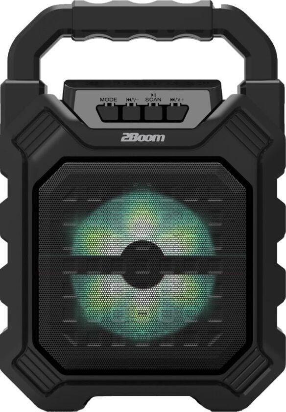 2Boom Vibe Portable Wireless Bluetooth Speaker [Black]