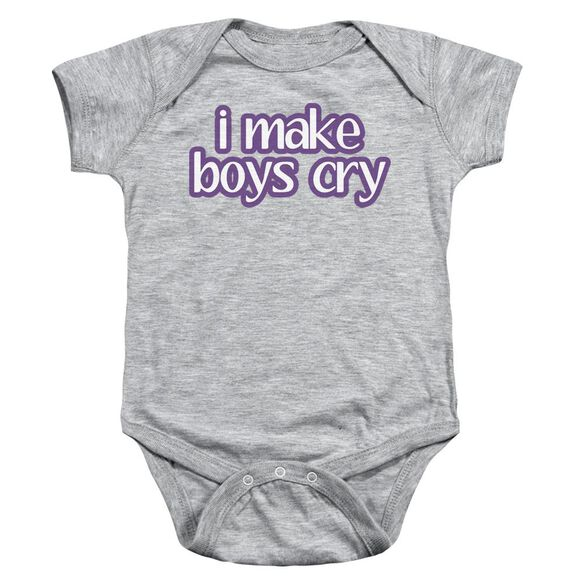 I Make Boys Cry Infant Snapsuit Athletic Heather Md