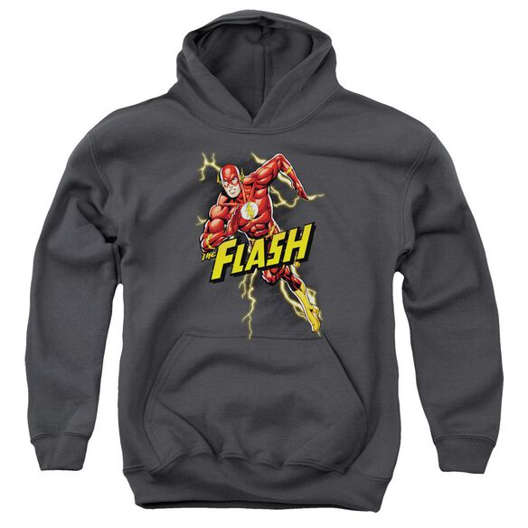 Jla Bolt Run Youth Pull Over Hoodie