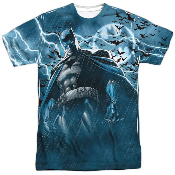 Batman Stormy Knight Short Sleeve Adult 100% Poly Crew T-Shirt