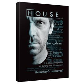 House Houseisms Canvas Wall Art With Back Board