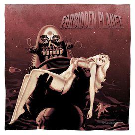 Forbidden Planet Poster Bandana White