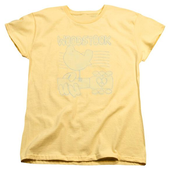 Woodstock Liney Logo Short Sleeve Womens Tee T-Shirt