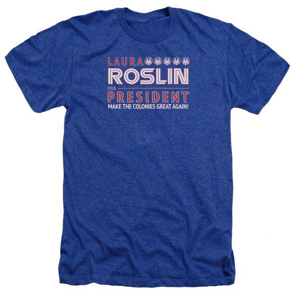 Bsg Roslin For President Adult Heather Royal