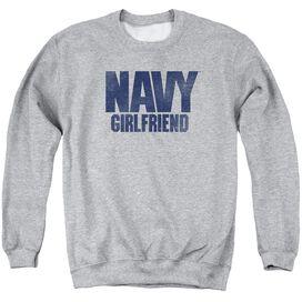 Navy Girlfriend Adult Crewneck Sweatshirt Athletic
