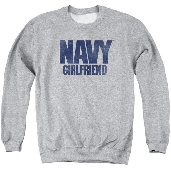 Navy Girlfriend Adult Crewneck Sweatshirt Athletic