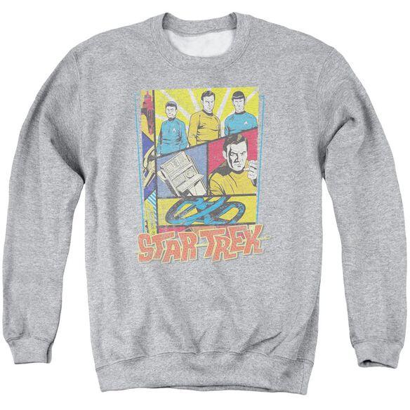 Star Trek Vintage Collage Adult Crewneck Sweatshirt Athletic