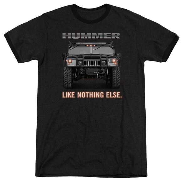 Hummer Like Nothing Else Adult Ringer Charcoal