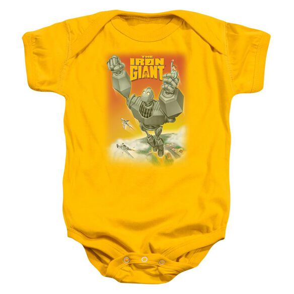 Iron Giant Fly Away Infant Snapsuit Gold