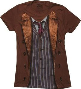 Doctor Who 10th Dr Costume Juniors T-Shirt
