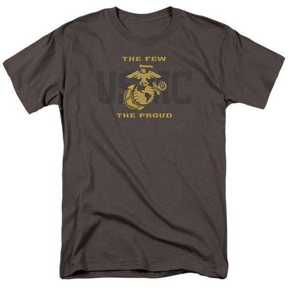 Us Marine Corps Split Tag Short Sleeve Adult T-Shirt