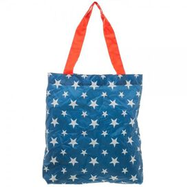 Wonder Woman Logo Stars Compact Packable Tote Bag