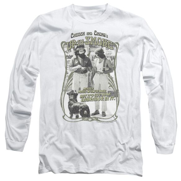Up In Smoke Labrador Long Sleeve Adult T-Shirt