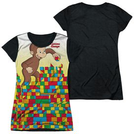 CURIOUS GEORGE BUILDING BLOCKS-S/S JUNIOR POLY T-Shirt