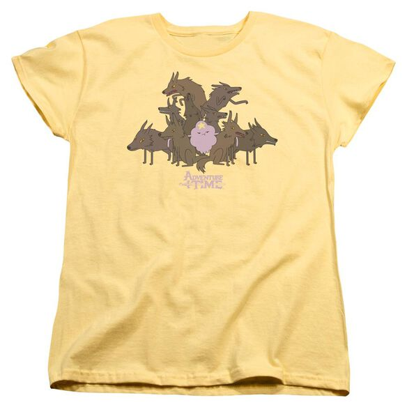 Adventure Time Lsp & Wolves Short Sleeve Womens Tee T-Shirt
