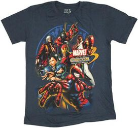 Marvel vs Capcom 3 T-Shirt Sheer