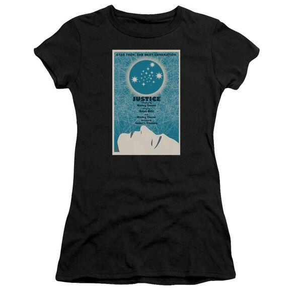 Star Trek Tng Season 1 Episode 8 Short Sleeve Junior Sheer T-Shirt