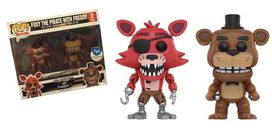 Pop Exclusive Five Nights at Freddy's Foxy The Pirate & Freddy [2 Pack]