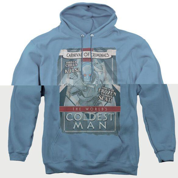 Batman Coldest Man - Adult Pull-over Hoodie - Carolina Blue