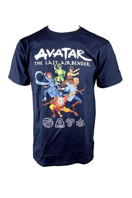 Avatar The Last Airbender Group Blue T-Shirt