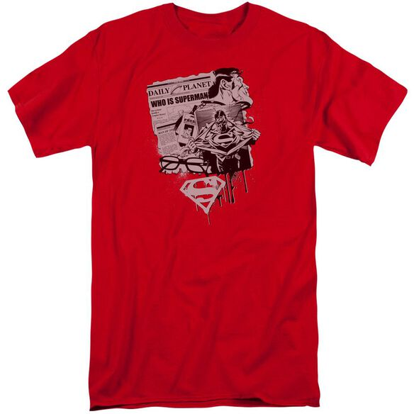 Superman Identity Short Sleeve Adult Tall T-Shirt