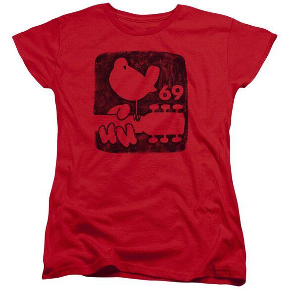Woodstock Summer 69 Short Sleeve Womens Tee T-Shirt