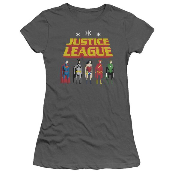 Jla Standing Below Short Sleeve Junior Sheer T-Shirt