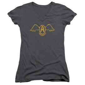 Aerosmith Retro Logo Junior V Neck T-Shirt