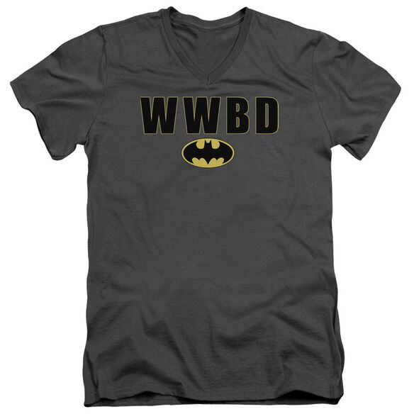 Batman Wwbd Logo Short Sleeve Adult V Neck T-Shirt