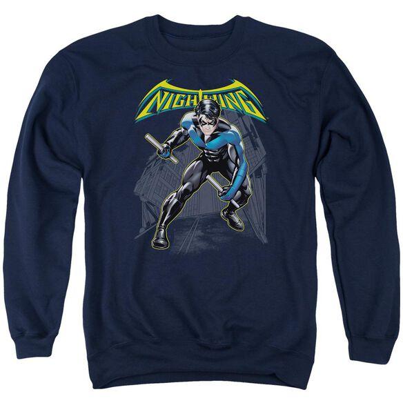 Batman Nightwing Adult Crewneck Sweatshirt