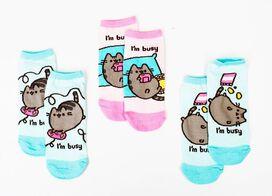 Pusheen I'm Busy Low Cut Socks [3 Pairs]