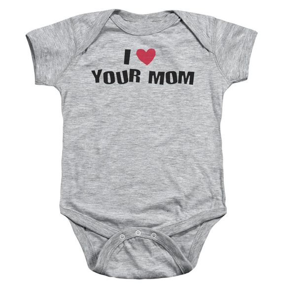 I Love Your Mom Infant Snapsuit Athletic Heather Md