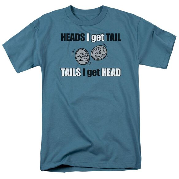 Heads Or Tails Short Sleeve Adult Slate T-Shirt