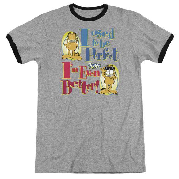 Garfield Even Better Adult Ringer Heather Black