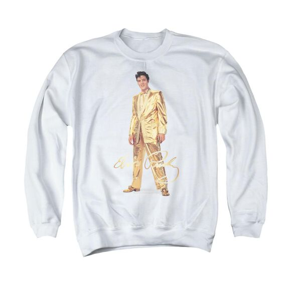 Elvis Gold Lame Suit Adult Crewneck Sweatshirt