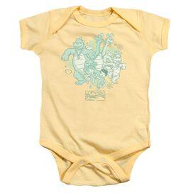 Dragon Tales Group Celebration Infant Snapsuit Banana